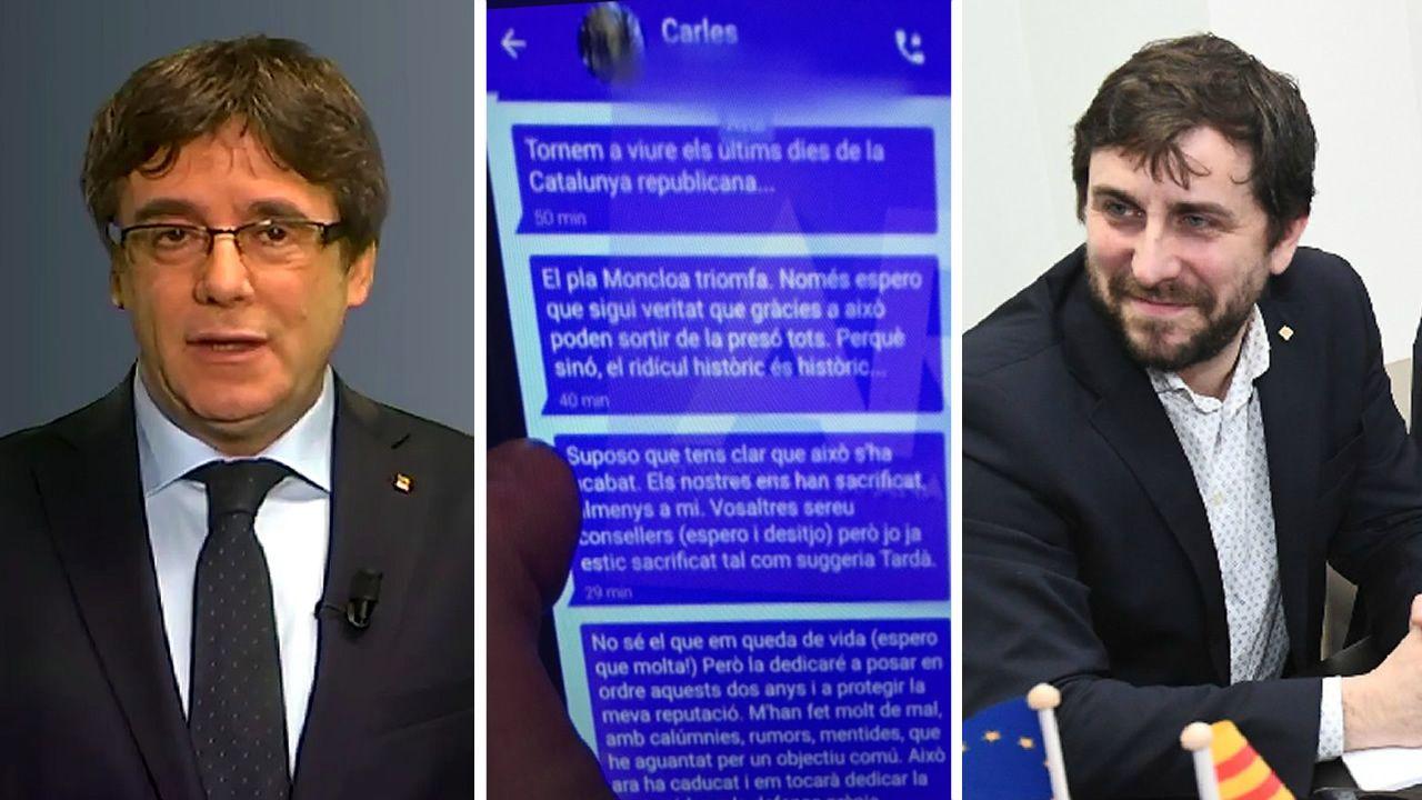 Puigdemont, Comin y los mensajes que intercambiaron