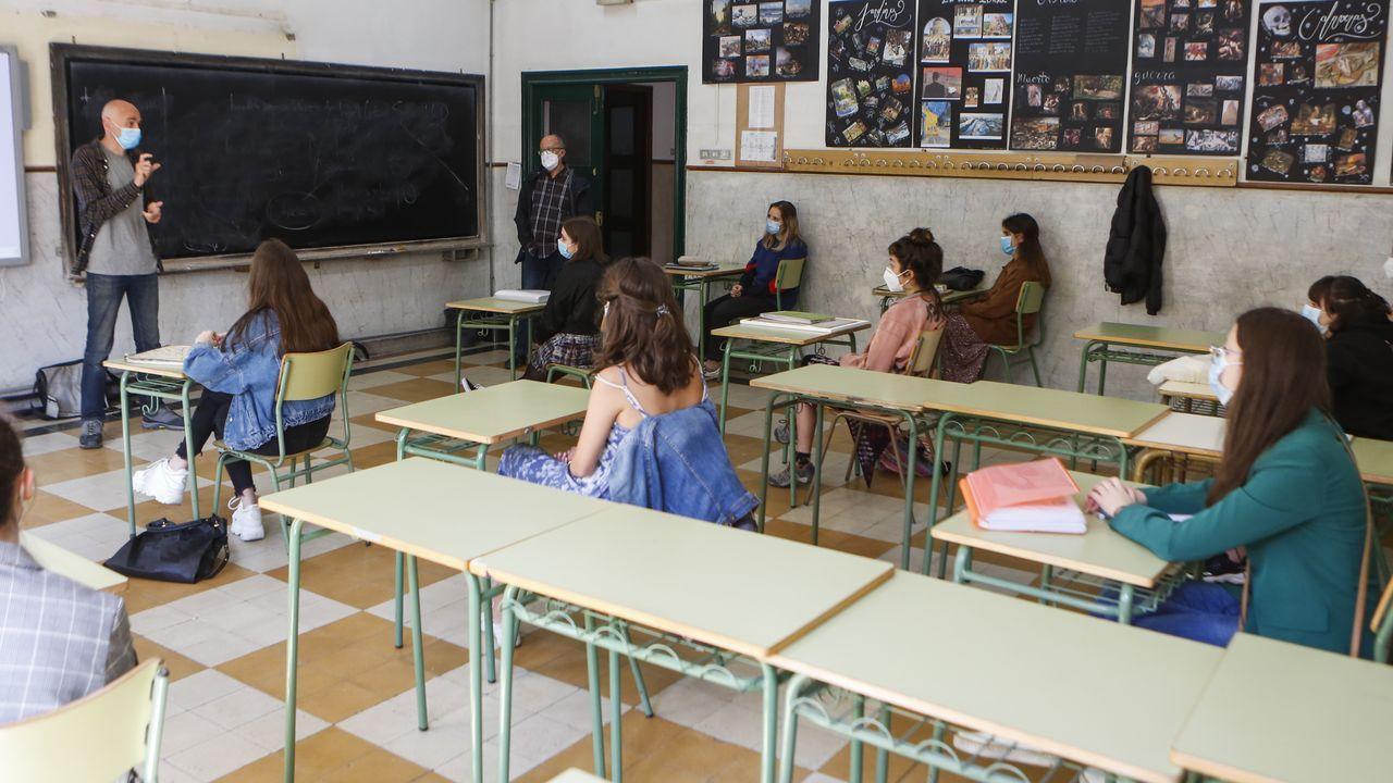 Regreso a las aulas en Ribeira.Regreso al IES Concepción Arenal