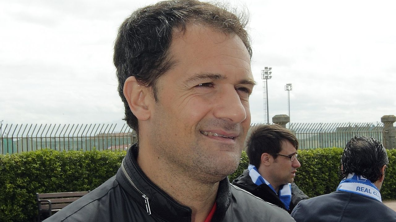 Ivan Ania Racing Santander.Rubén de la Barrera, Martín Lasarte, Fernando Vázquez y José Luis Oltra
