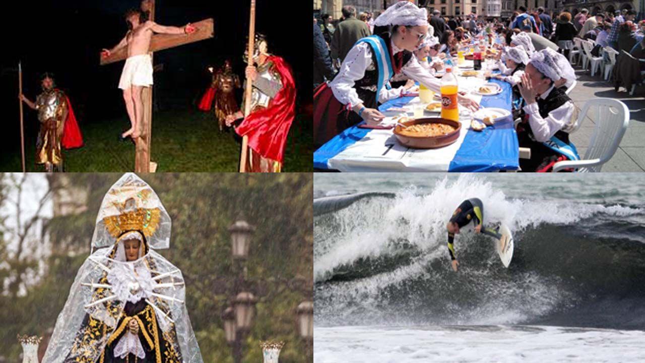 Unafamilia francesa que busca sus orígenes en Asturias.Semana Santa en Asturias