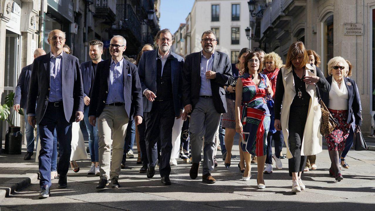 MITIN PP ALBERTO NUÑEZ FEIJOO EN A POBRA Y RIBEIRA.La candidata del PP a la Asamblea de Madrid, Isabel Díaz Ayuso