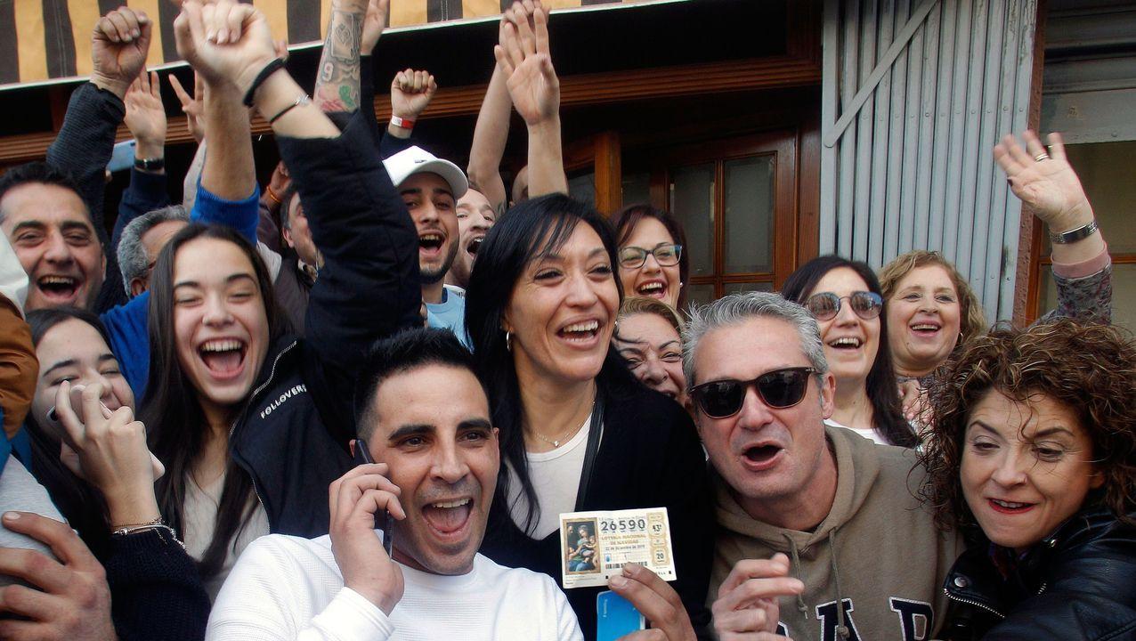 Varios clientes del restaurante Pepe, de San Vicente del Raspeig (Alicante)