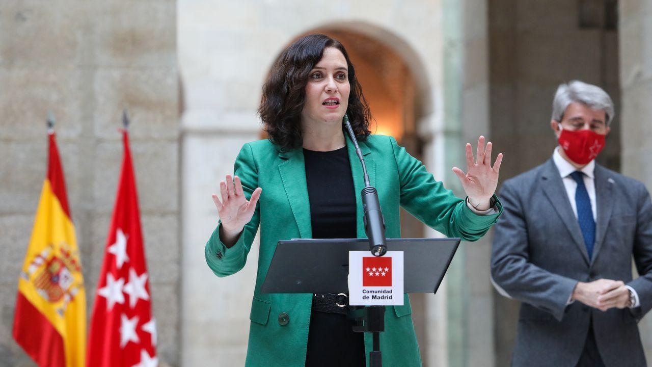 La líder de Ciudadanos, Inés Arrimadas, este jueves, en el acto en homenaje a las víctimas del 11M