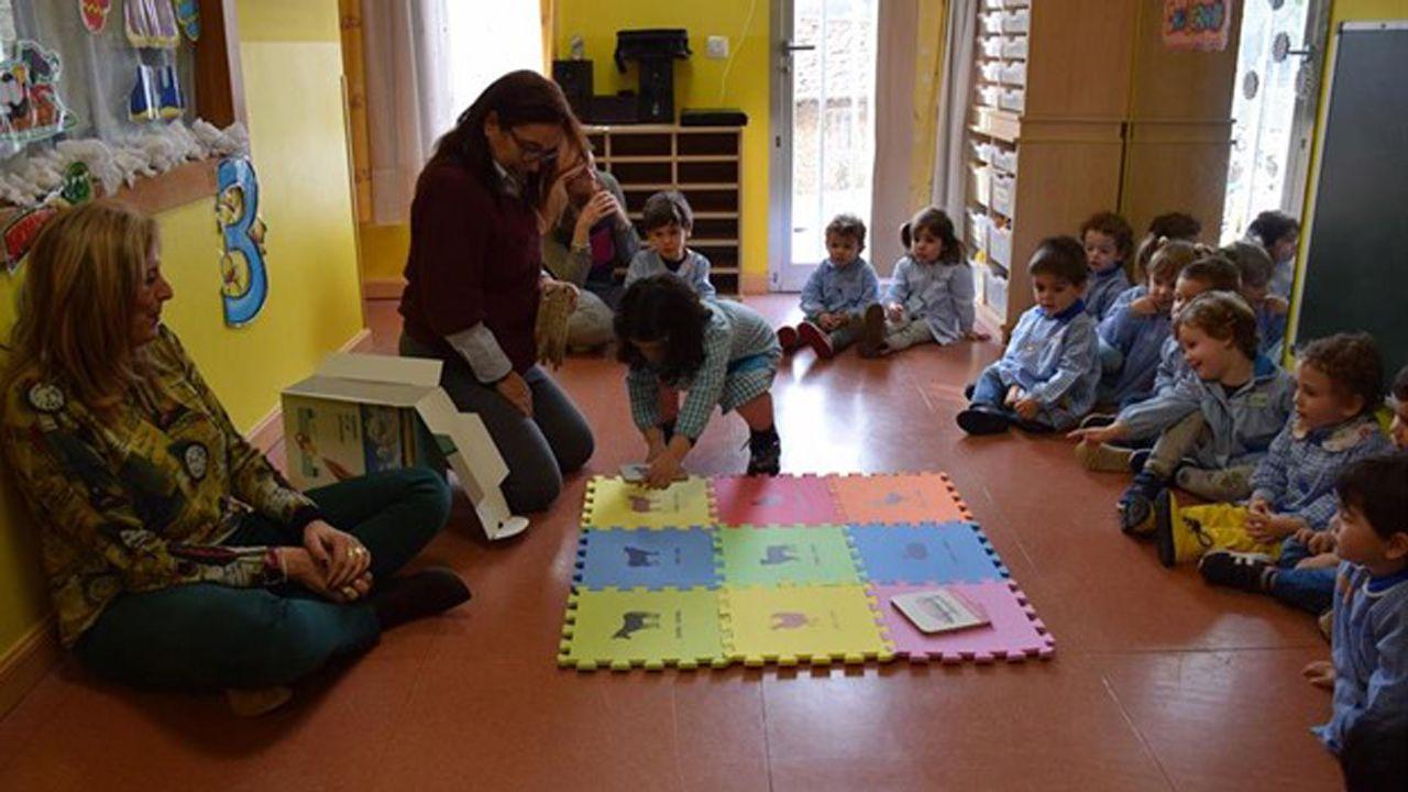 Aula de asturiano.Un aula asturiana