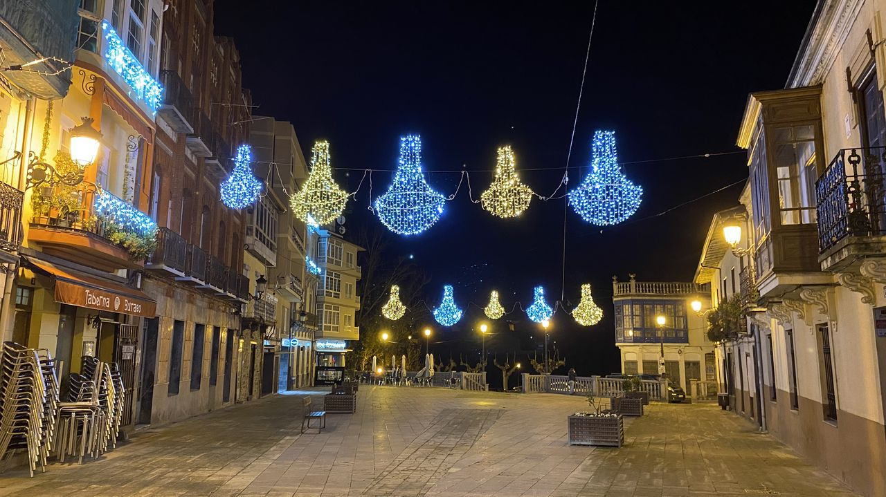 La decoración navideña en O Barco