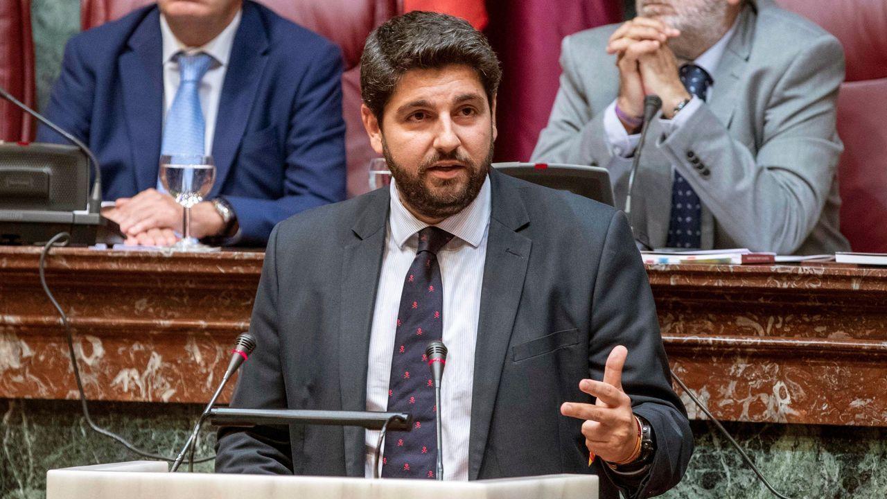El desfile del Orgullo 2019 toma Madrid.El candidato del PP a la presidencia de la Comunidad de Murcia, Fernando López Miras