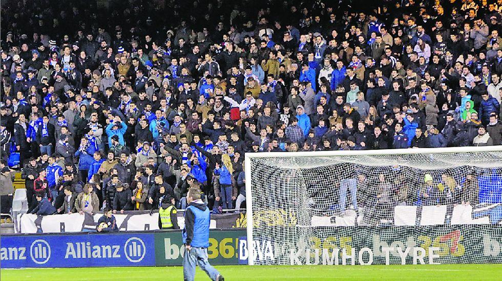 Los cánticos se oyeron en el partido del pasado viernes frente al Eibar.