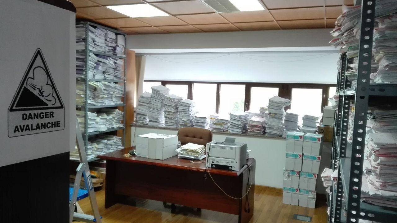 Imagen de archivo de una sala de los juzgados de Viveiro