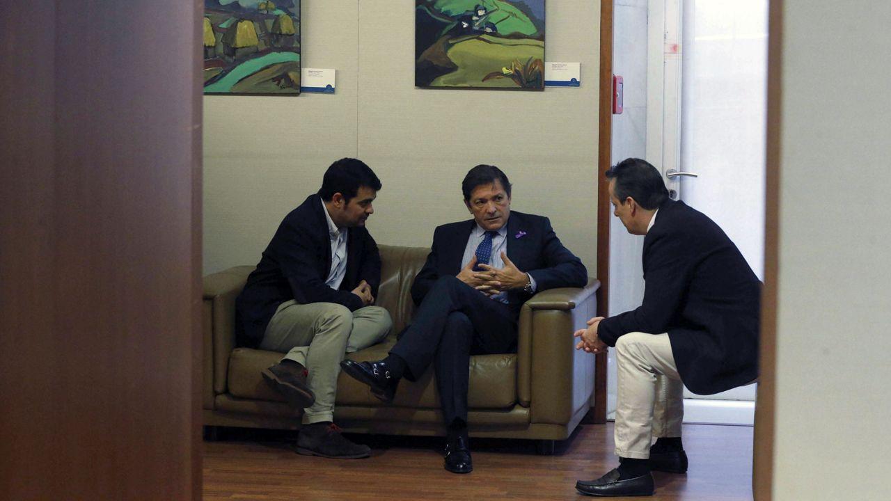 Nino Torre, Javier Fernández y Marcelino Marcos