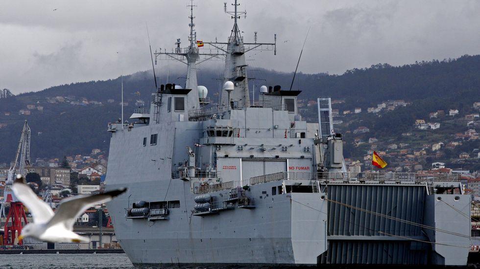 Los 27 conmemoran el Tratado de Roma.Buque Galicia de la Armada, en el puerto de Vigo