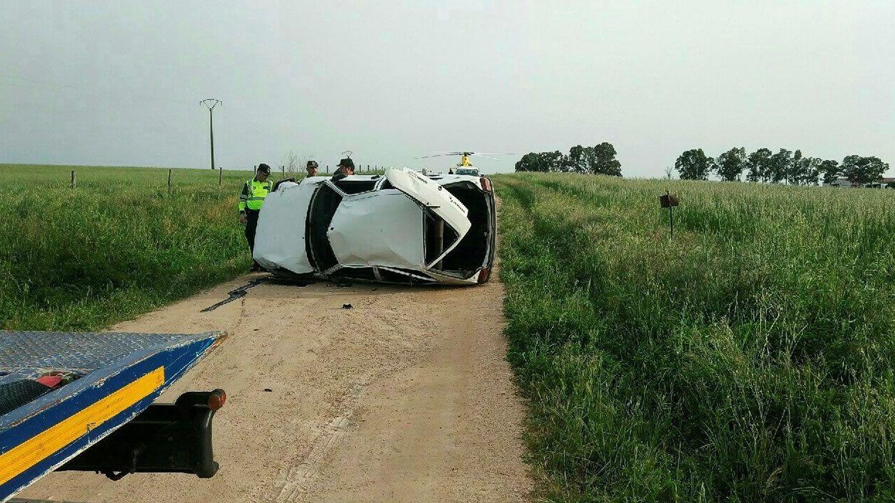 Solo el conductor del accidente de Villar del Rey llevaba cinturón.Ría de Villaviciosa