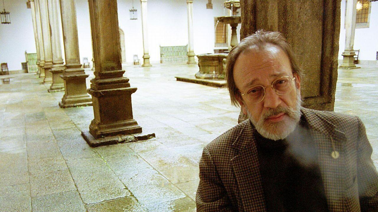 Eduardo Chamorro, retratado en Santiago en el año 2000