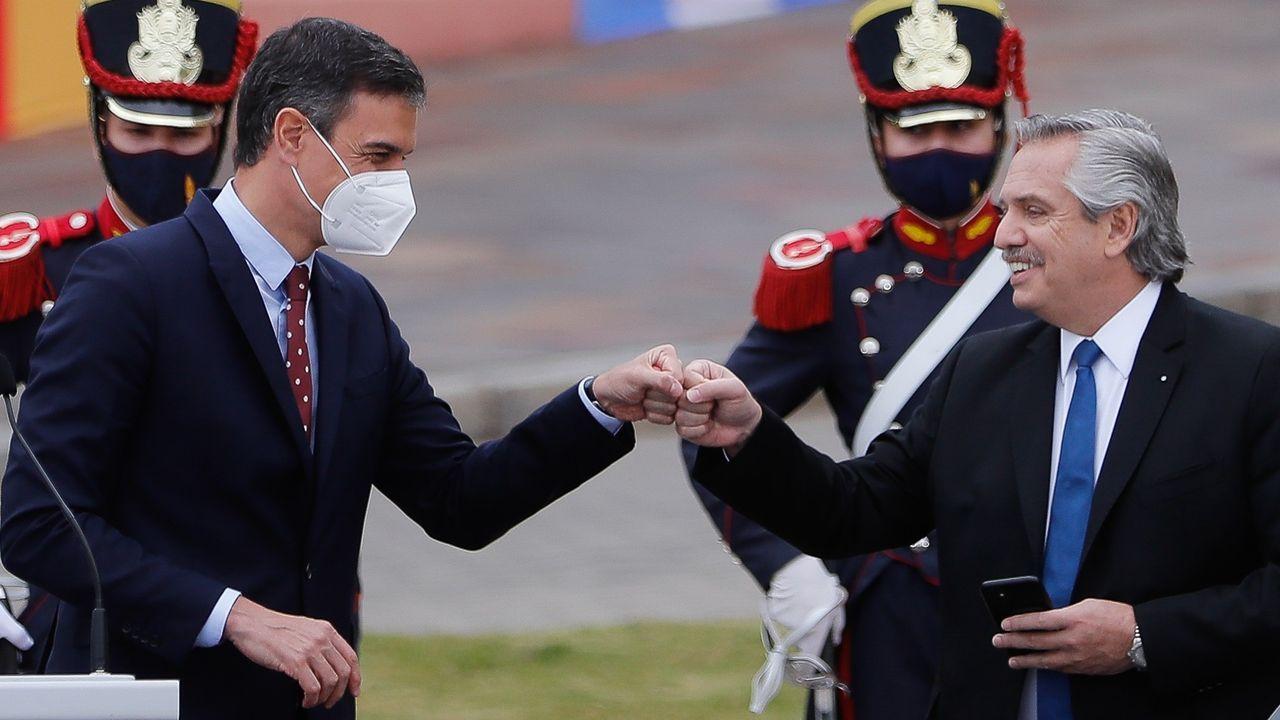Alberto Fernández hizo sus sorprendentes declaraciones en una comparecencia conjunta con Pedro Sánchez