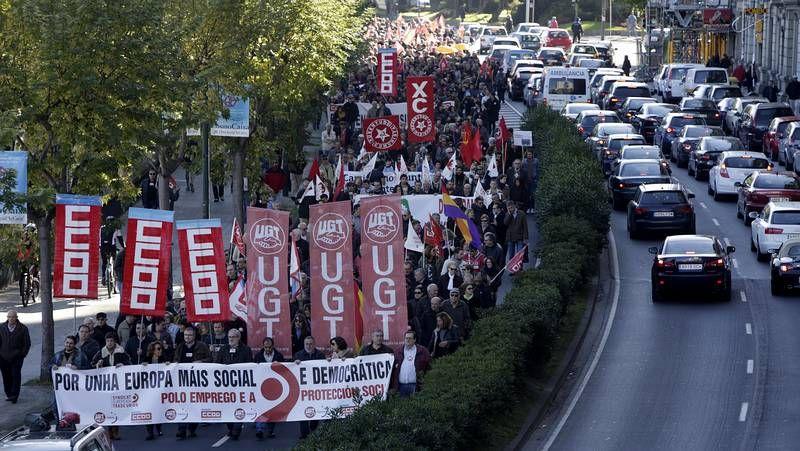 Marcha contra los recortes en A Coruña