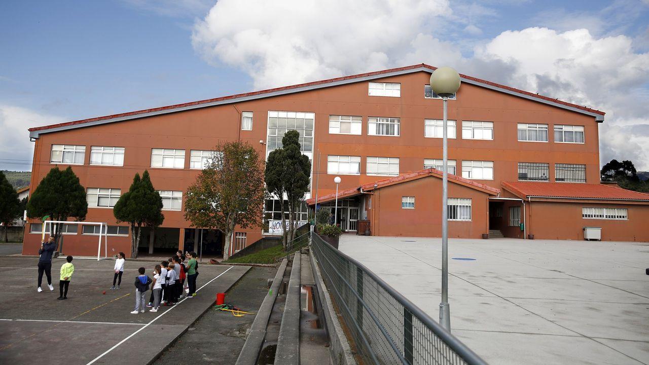 Imagen de archivo del CEIP de Palmeira donde, según el informe de la Consellería de Educación, ha aparecido un positivo