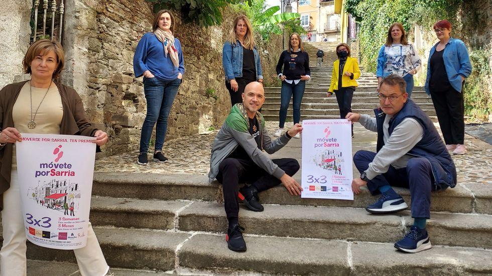 Así es el molino de Don Álvaro.Presentación de la campaña comercial del Móvete por Sarria