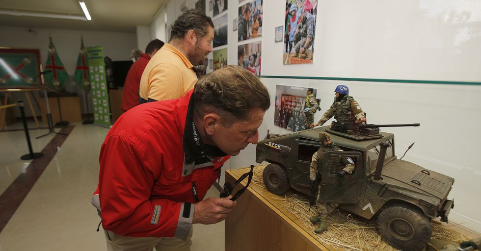 Ayer se inauguró en el Museo Militar una exposición sobre las misiones de paz