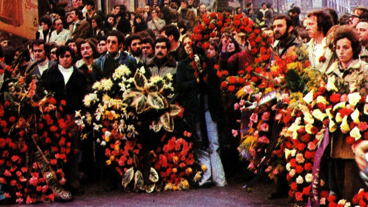 Calistenia en la Alameda.Entierro de las víctimas de la matanza de la calle Atocha