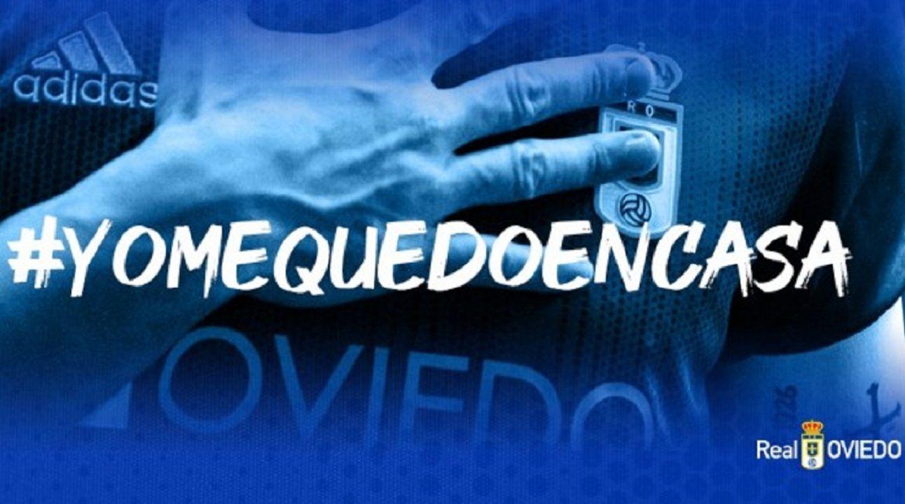 Real Oviedo redes sociales Yo me quedo en casa