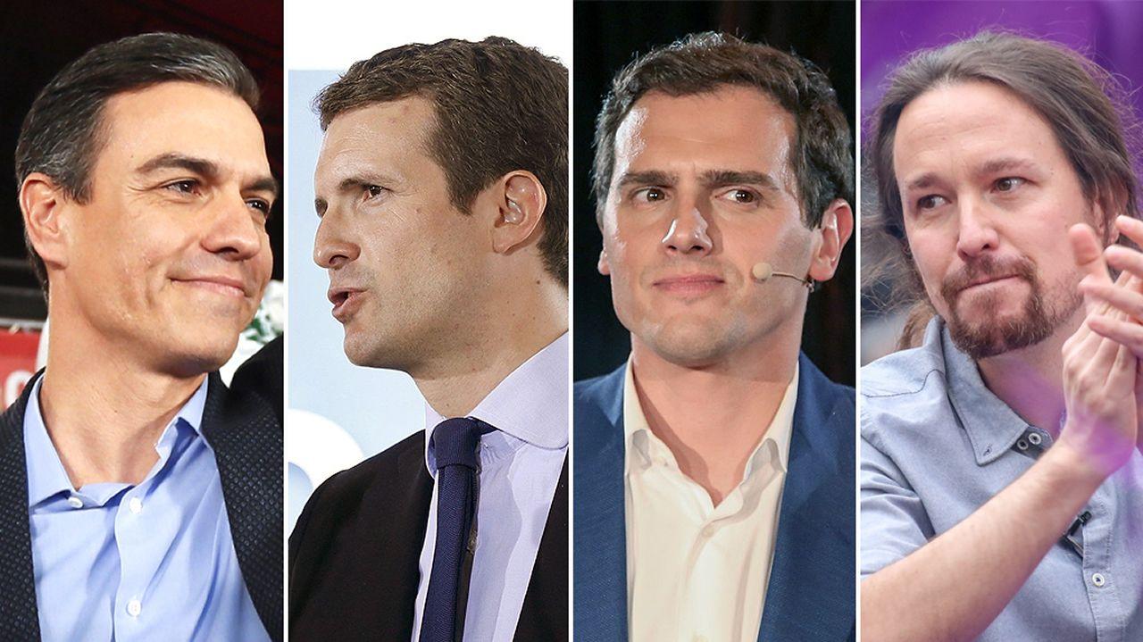 Candidatos que debatirán en TVE
