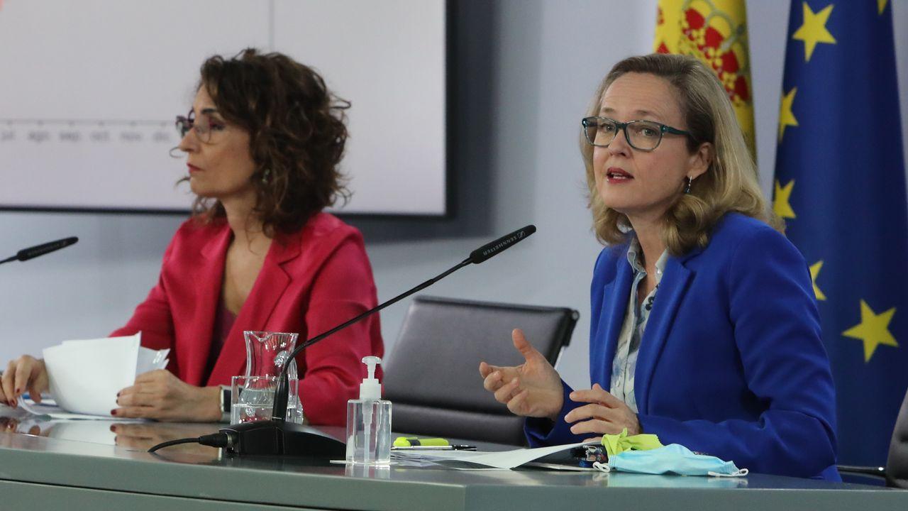 En directo: el Gobierno presenta las ayudas directas a pymes y autónomos.El presidente del Gobierno, Pedro Sánchez, y el vicepresidente segundo, Pablo Iglesias, en una reunión del Consejo de Ministros