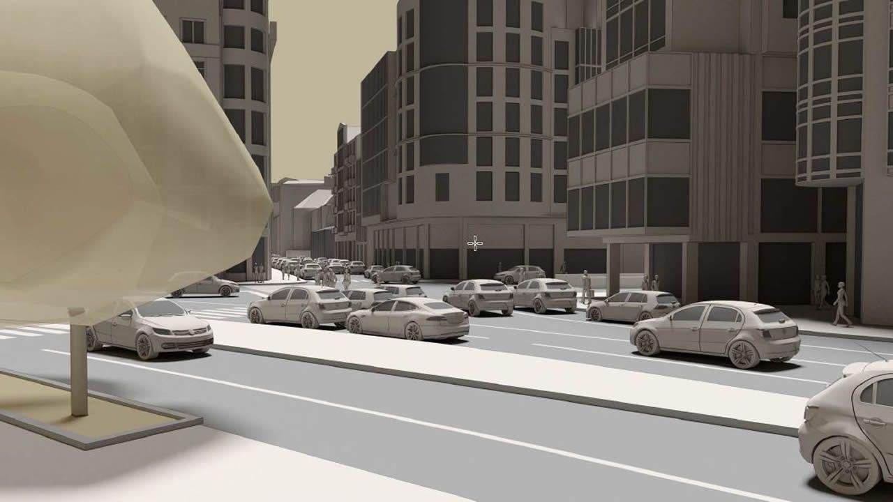 En la plaza de Mina se reorganizará el tráfico para favorecer la continuidad del tránsito peatonal desde los Cantones hasta la calle Compostela, y se recuperará el giro a la izquierda desde Juana de Vega