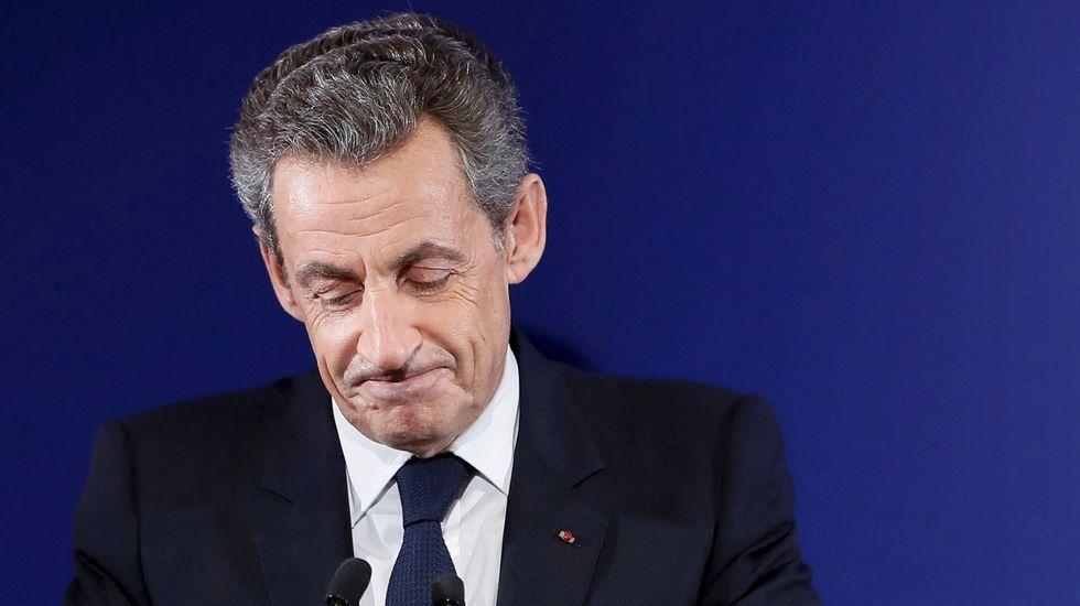 Pedro Sánchez comparece tras el Consejo Europeo.Nicolas Sarkozy
