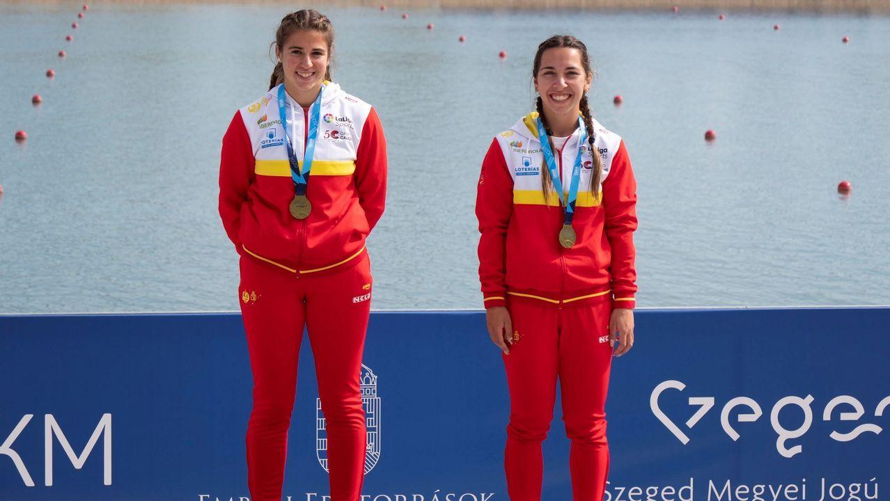 Antía Jácome y Antía Otero ganan el oro en C2 200 en Hungría.Imagen de archivo de un comedor escolar