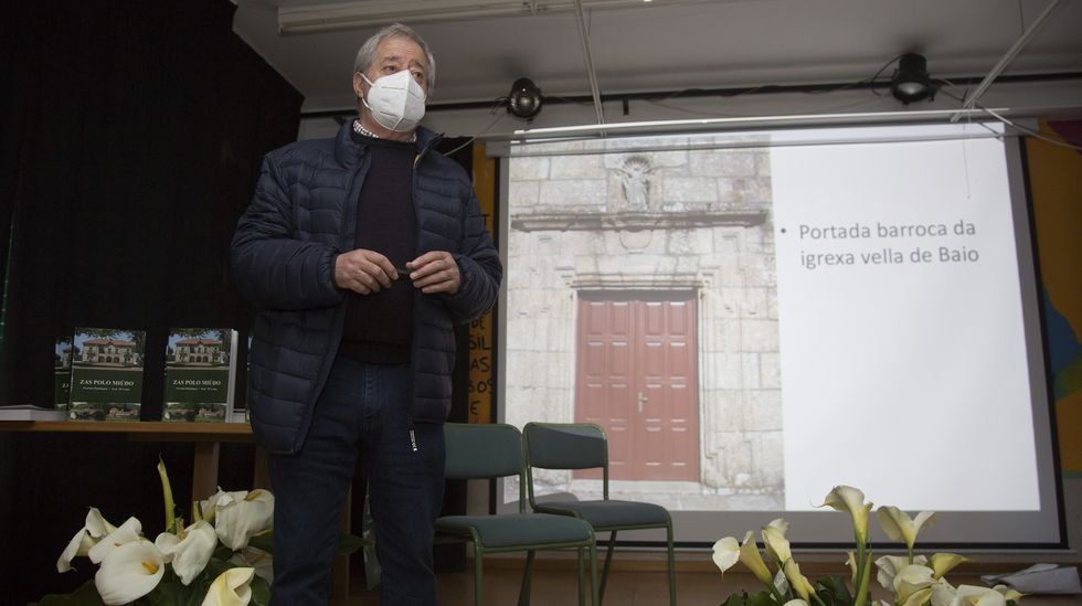 Evaristo Domínguez, en el IES de Baio