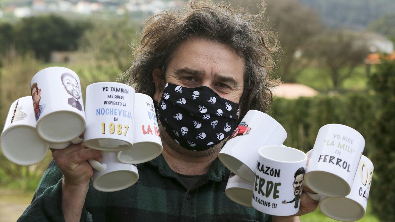 Los trabajadores de la planta de As Somozas en Siemens Gamesa, en una protesta reciente