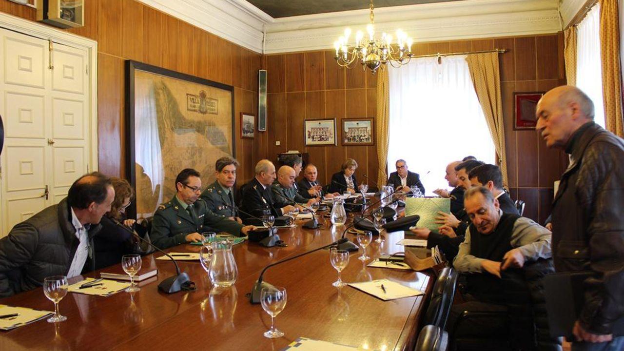 Asturias conmemora el 8-M.Junta de Seguridad de Ciudadana