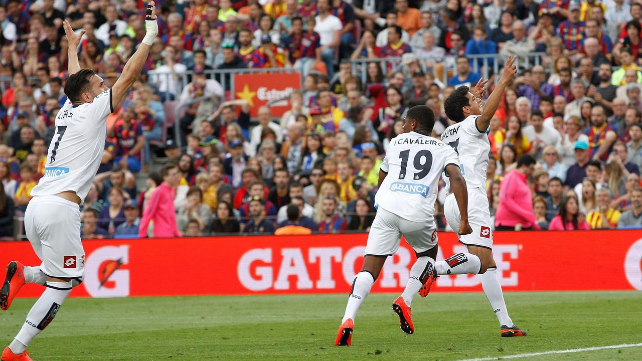 Salomão marcó el gol del empate contra el Barcelona en el Camp Nou y el Deportivo se mantuvo en Primera en el 2015