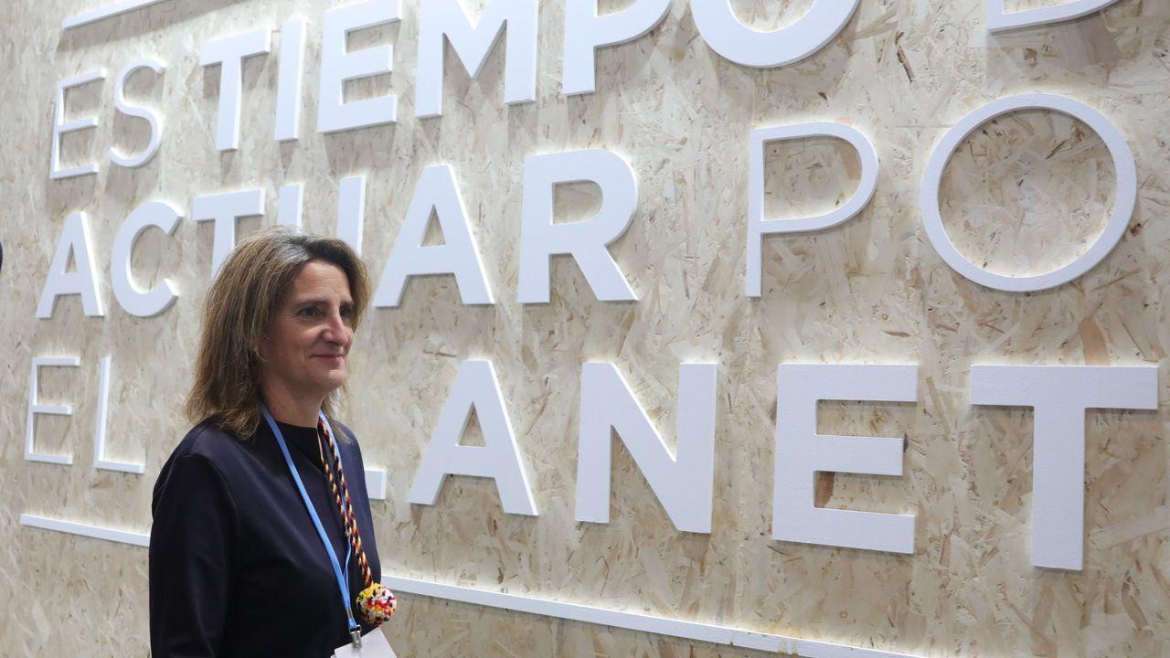 Todos los rostros del nuevo Gobierno de coalición.La ministra para la Transición Ecológica en funciones, Teresa Ribera, durante la pasada Cumbre del Clima en Madrid