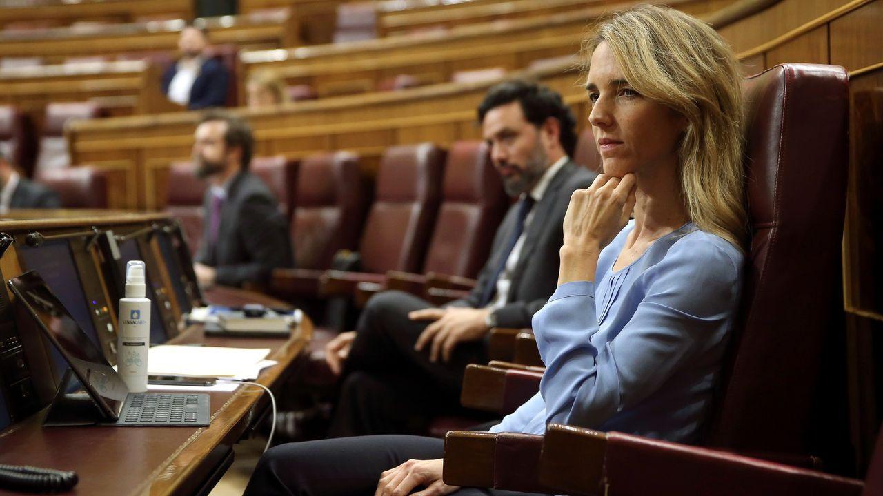 Cayetana Álvarez de Toledo, durante un pleno celebrado en el Congreso de los Diputados