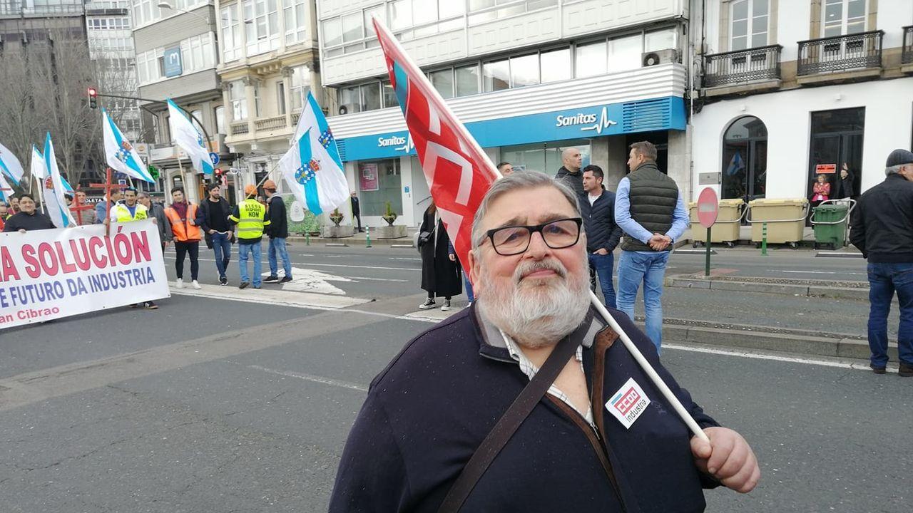 José Luis Paz Pena, en su última manifestación el pasado día 11 de marzo en defensa de las electrointensivas