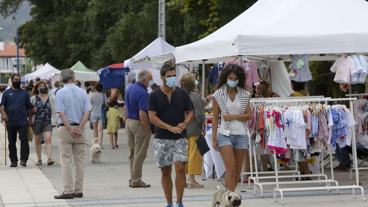 «Túneles anticovid»: «A xente séntese máis segura».Andén de la estación de tren de Monforte