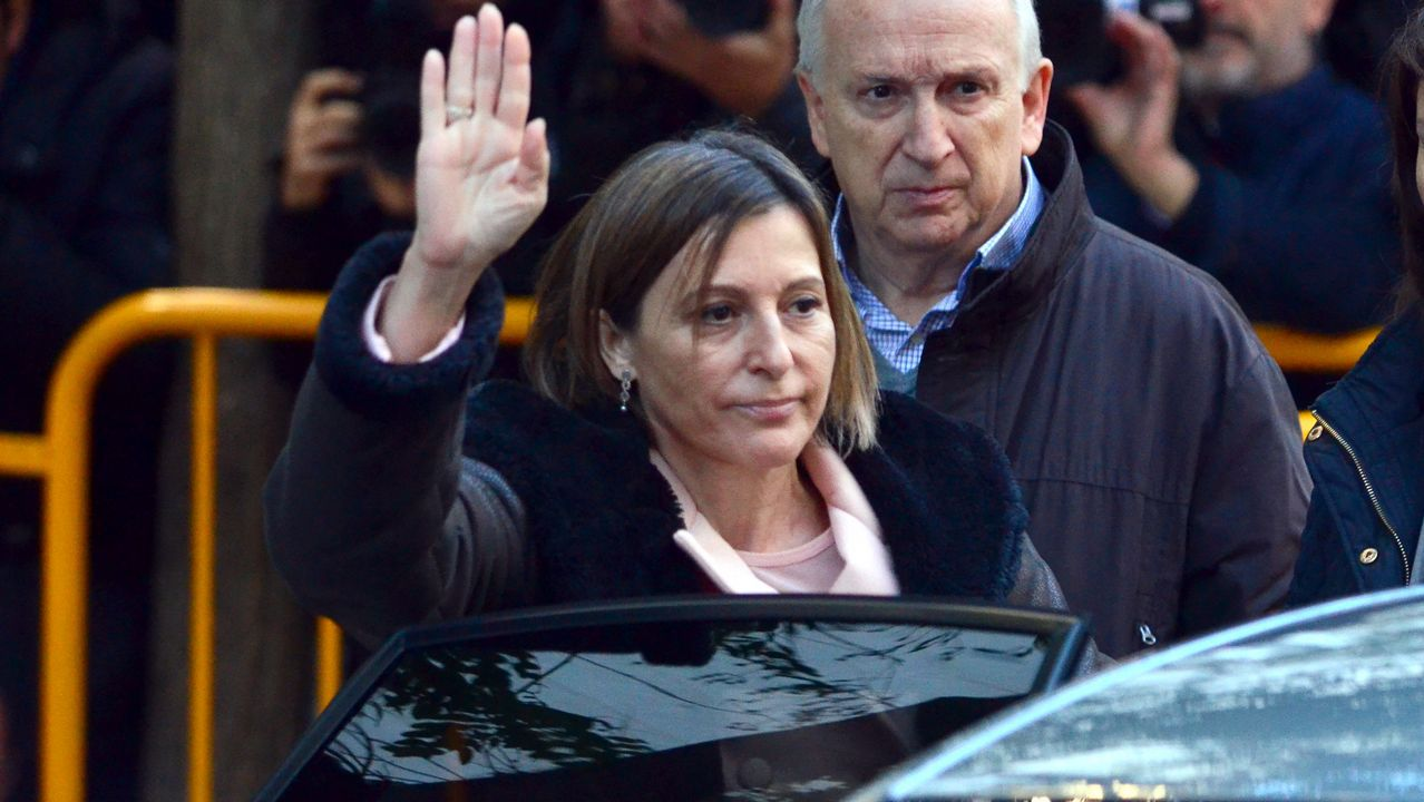 Forcadell, increpada en su llegada al Tribunal Supremo