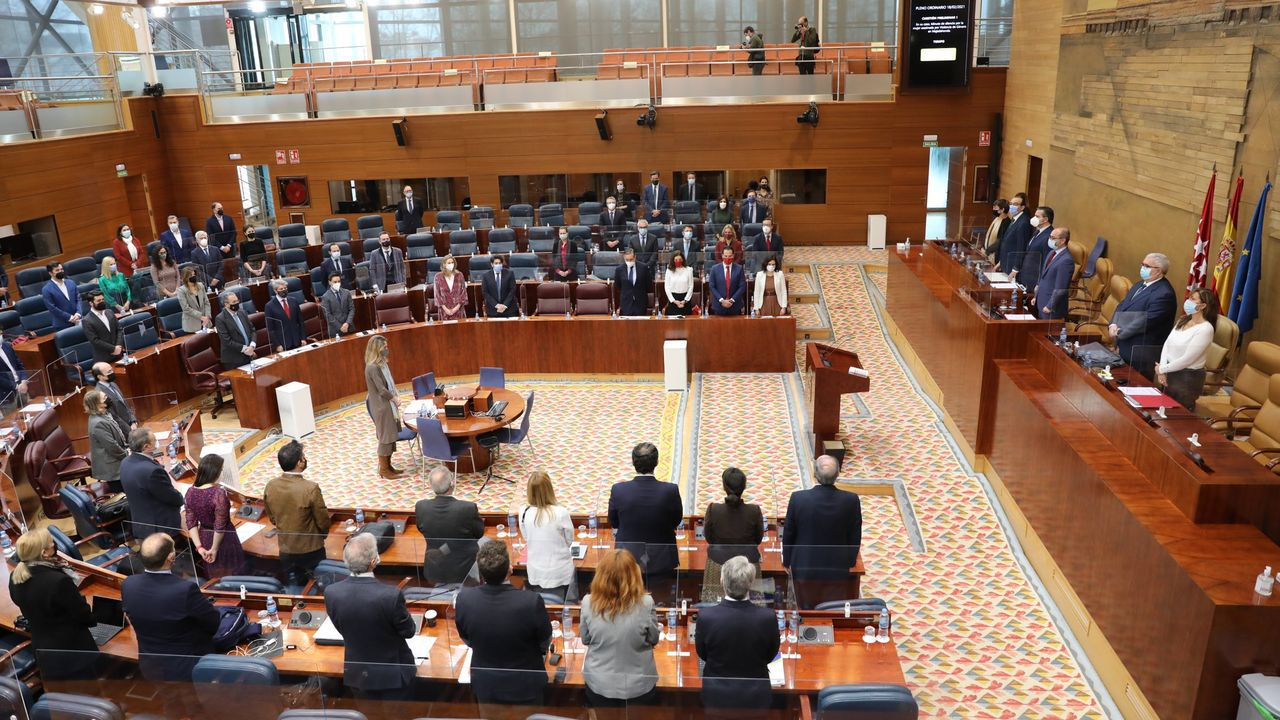 Foto de archivo de un pleno de la Asamblea de Madrid
