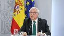Manuel Castells, ministro de Universidades, en una rueda de prensa