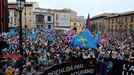 Imagen de la gran manifestación celebrada en Oviedo el pasado 16 de octubre, donde unas 30.000 personas reclamaron la oficialidad del asturiano