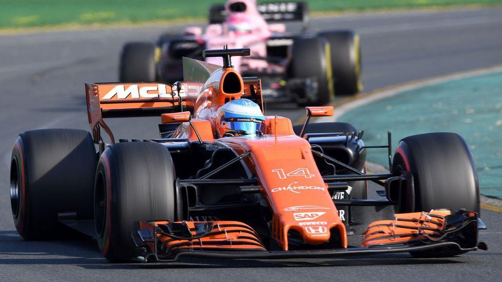 Fernando Alonso, en un momento del Grand Prix de Melbourne