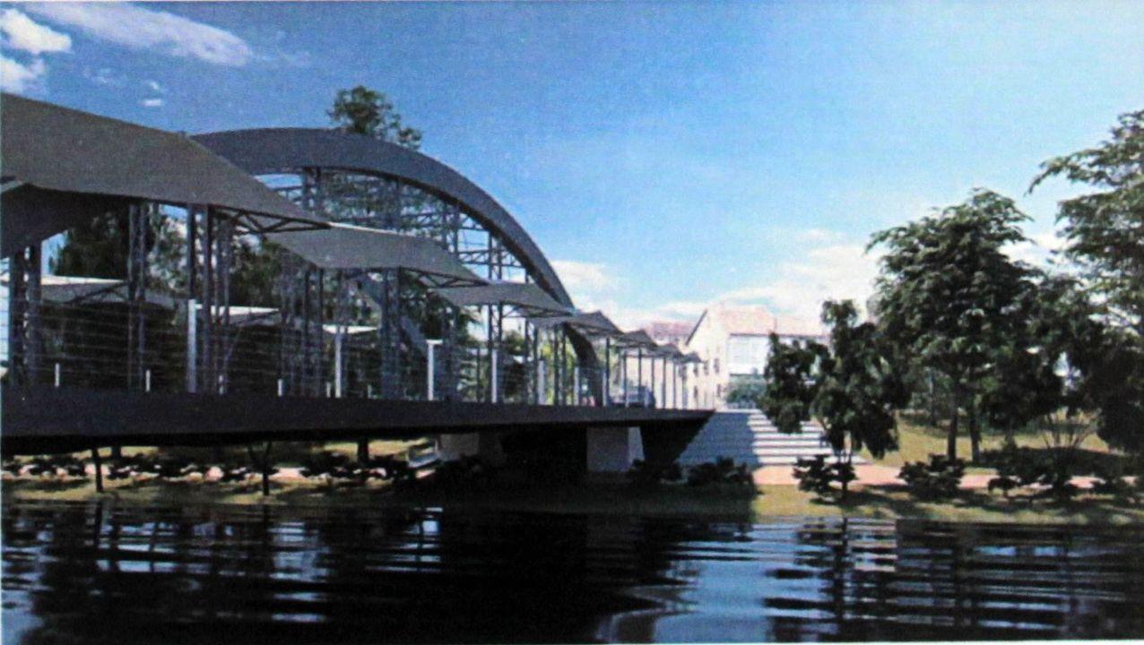 La propuesta ganadora plantea un puente con un doble arco de hierro y aceras laterales cubiertas