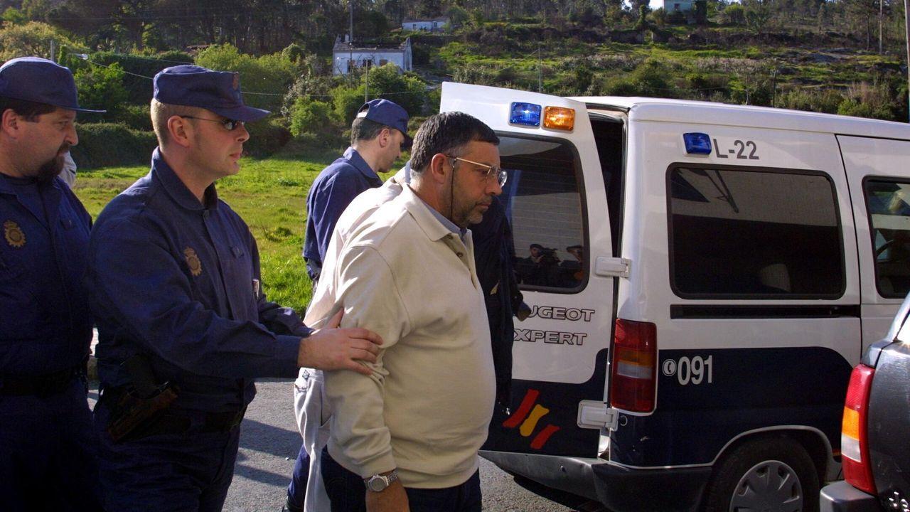 José Carlos Pombar, en los juzgados de Ribeira en el 2002