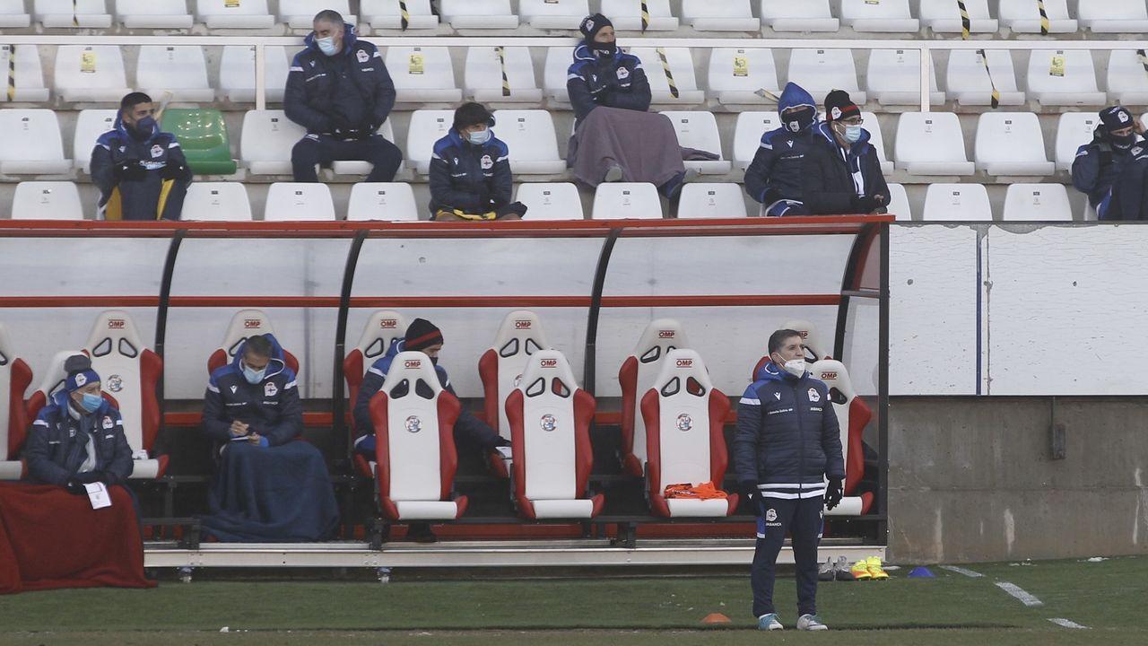 Pacheta, durante el encuentro ante el Real Oviedo