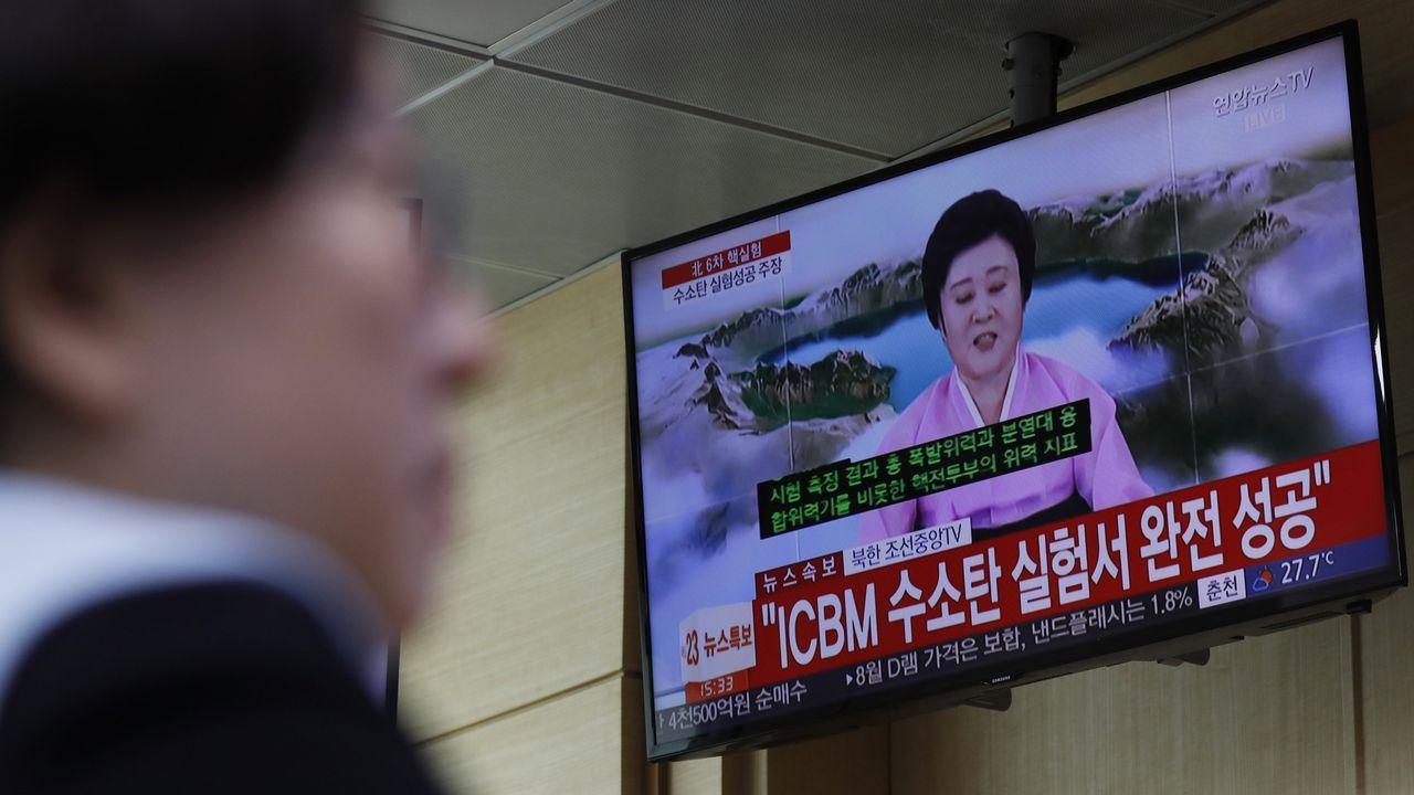 Corea del Norte realiza el que sería su sexto y más potente ensayo nuclear.Fotografia distribuida por el ministerio de Defensa de Corea del Sur