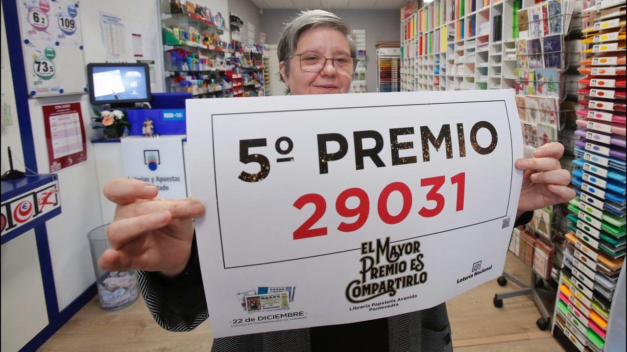 Un quinto premio se repartió en una adminsitración de Pontevedra
