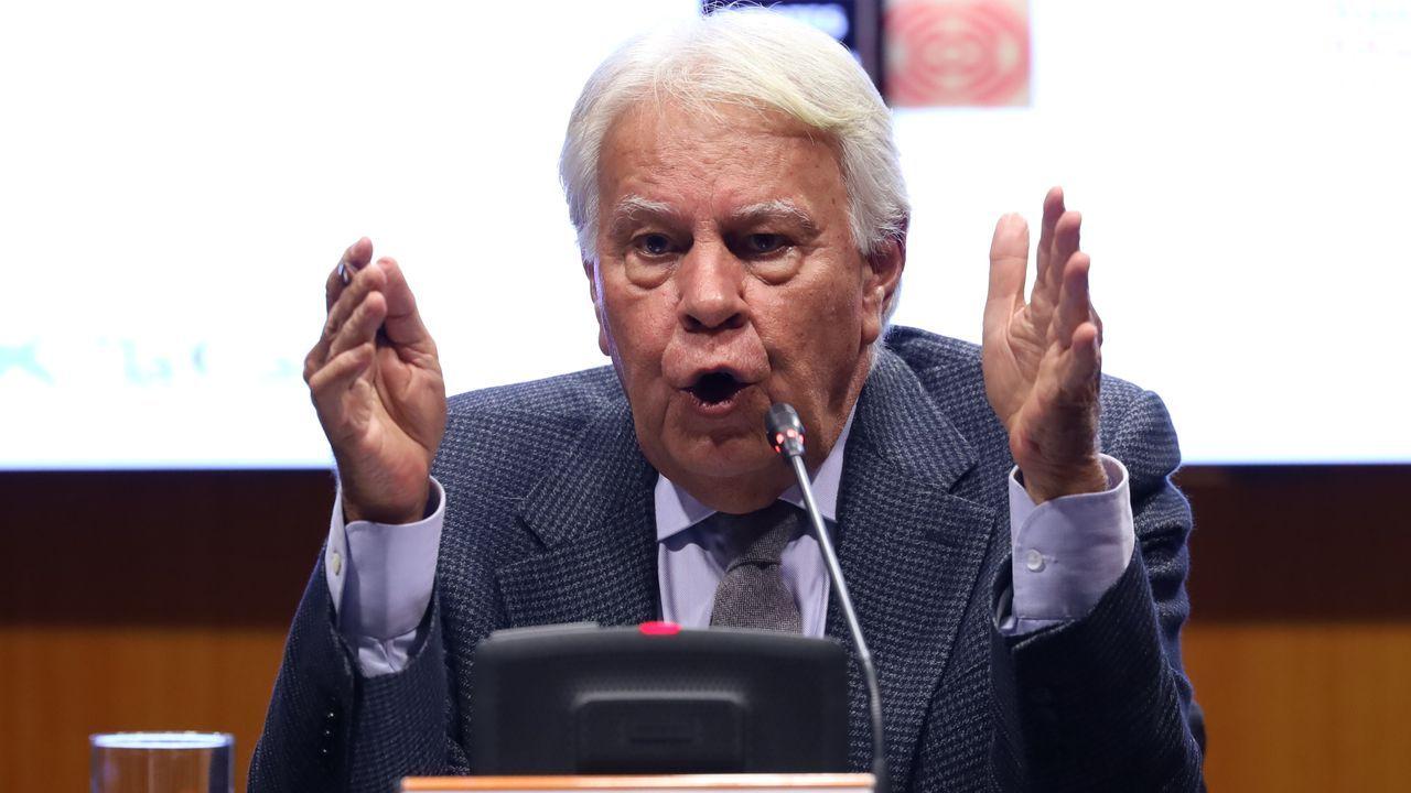 El expresidente Felipe González, en una imagen del pasado febrero