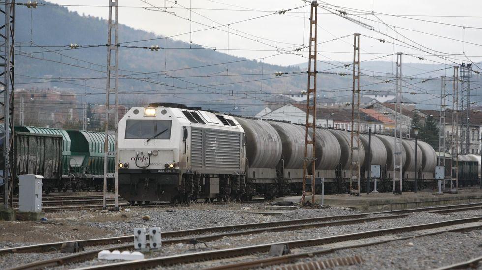 La trayectoria de Vita en imágenes.Tren de mercancías estacionado en la estación, en la parte más próxima al centro logístico