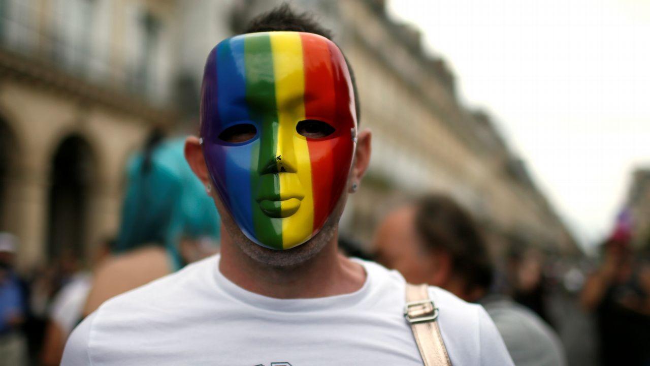 Manifestación del Orgullo Gay en París