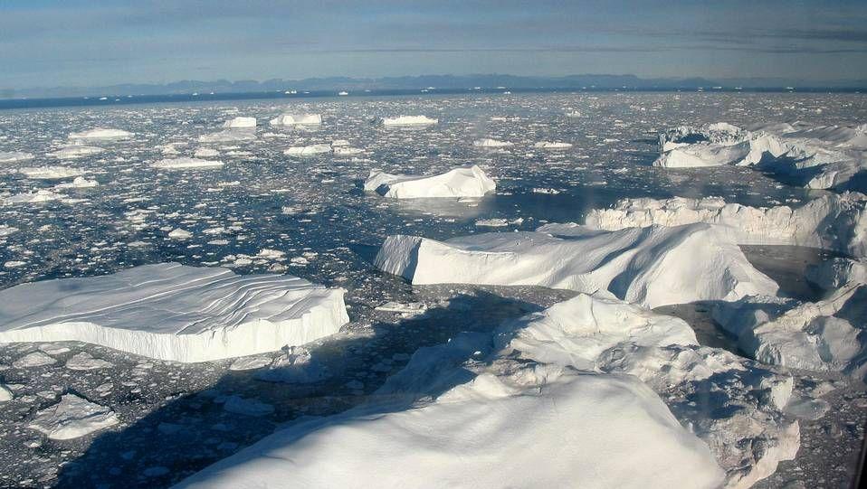 ¿Cuántos años tiene el hielo de Groenlandia?.El fiordo helado de Ilulissat, en Groenlandia